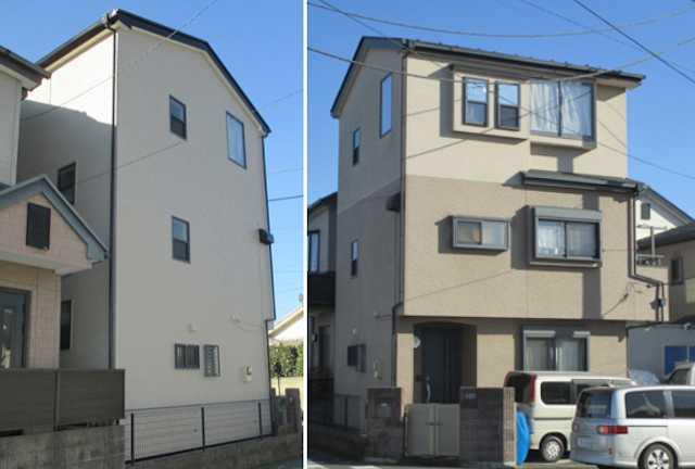 【事例1】『水性シリコンセラUV』などで外壁・屋根を塗り替え