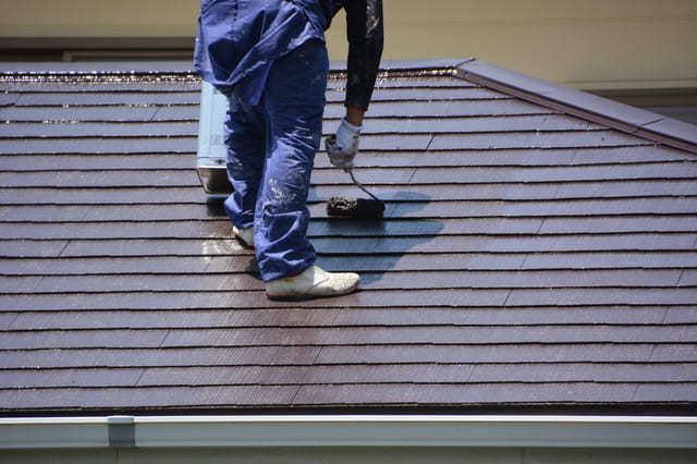 外壁に加えて屋根も塗装する場合の日数