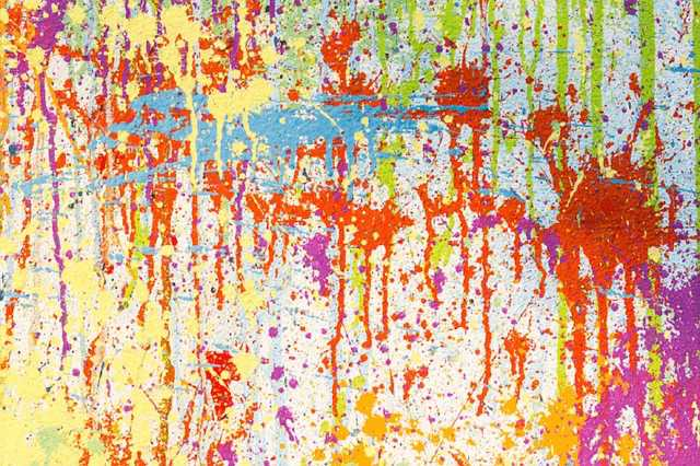 塗料の飛沫
