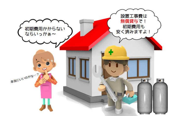 無償貸与でプロパンガス給湯器が無料?仕組みとメリット・デメリットを徹底解説